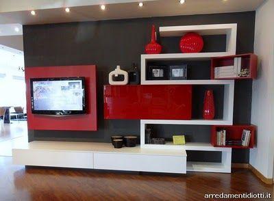 Soggiorno rosso e bianco mommiie dream room pinterest