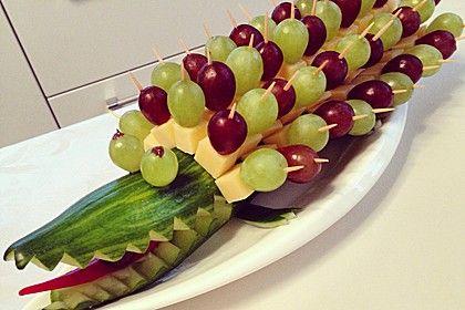 Gurkenkrokodil | Ideen | Food, Party Snacks und Party ...
