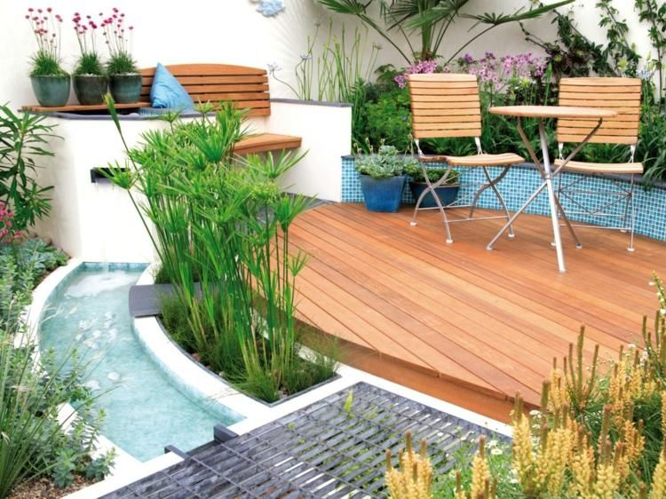wasserspiele garten klein terrasse teich anlegen garten pinterest wasserspiel garten. Black Bedroom Furniture Sets. Home Design Ideas