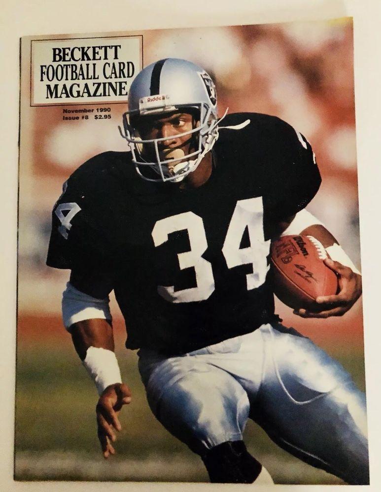 1990s beckett football card magazine bo jacksonwarren