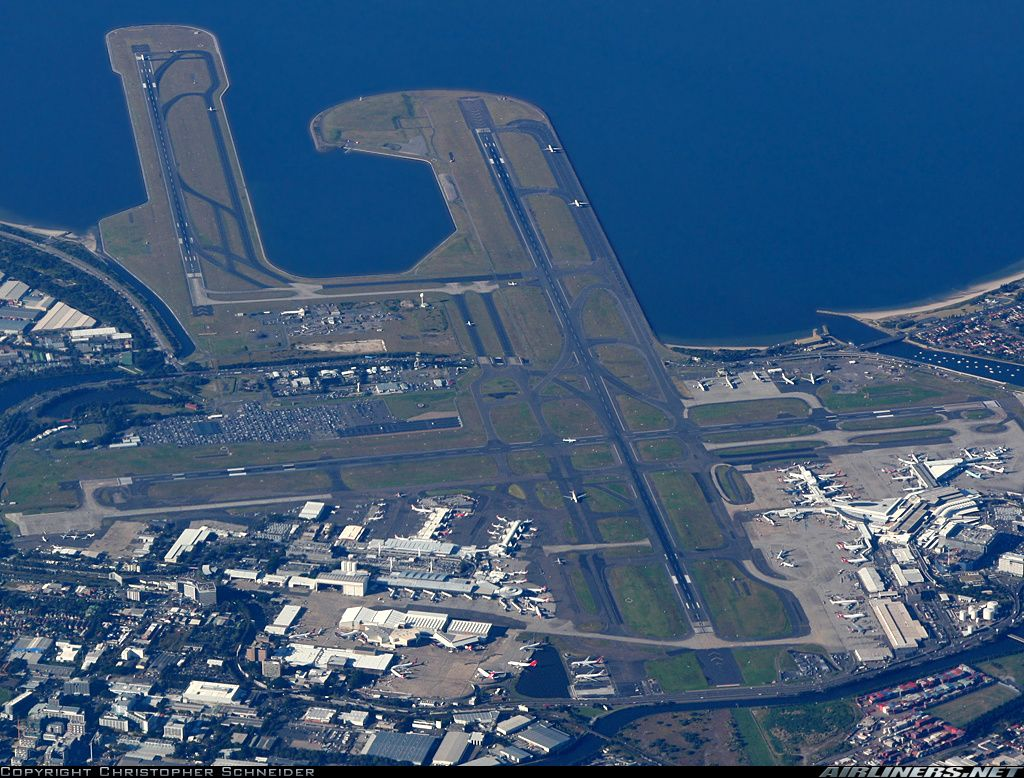 Wonderful Overview Of Sydney Airport As We Are Overflying The