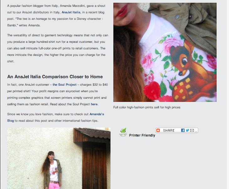 @Anajet Italia  anajet tshirt blog, stampanti tshirt anajet, tshirt personalizzate , bambi, amanda marzolini, italian fashion blogger ,  the fashionamyblog ...