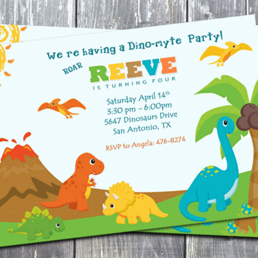 Dinosaur Birthday Theme Party Digital Invitation Card Printable Dinosaur Invitations Dinosaur Birthday Party Invitations Dinosaur Birthday Invitations