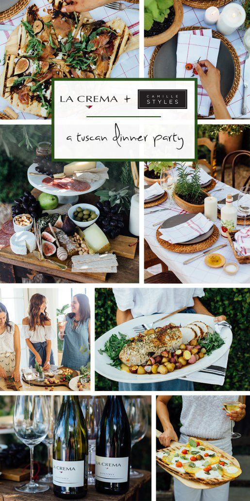 Interactive Dinner Party Ideas Part - 48: A Tuscan Dinner Party With Camille Styles