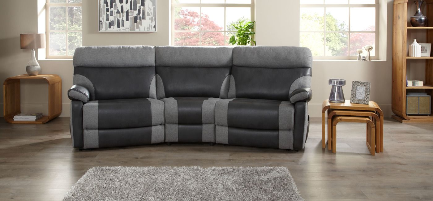 Cool Curved Reclining Sofa Fancy 83 In Table Ideas With
