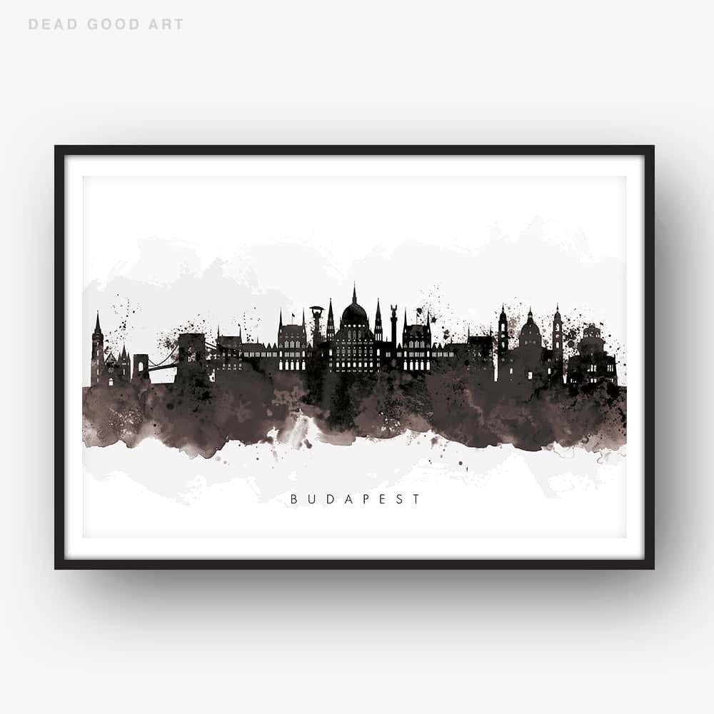 London Skyline Wall Art Print Poster Home Decor City Landmark Eye Gift Minimal