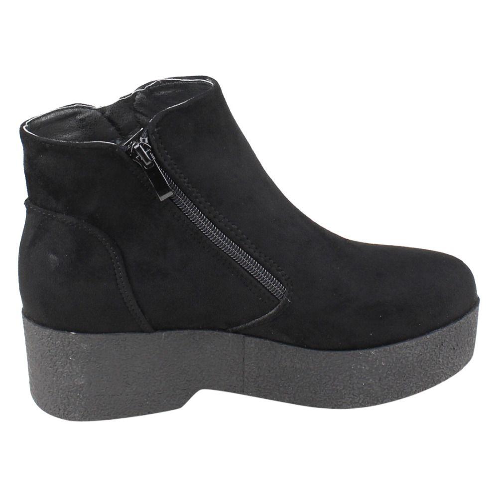 08dd20615f1 EJ24 Women s Fashion Casual Side Zipper Platform Wedge Ankle Booties ...