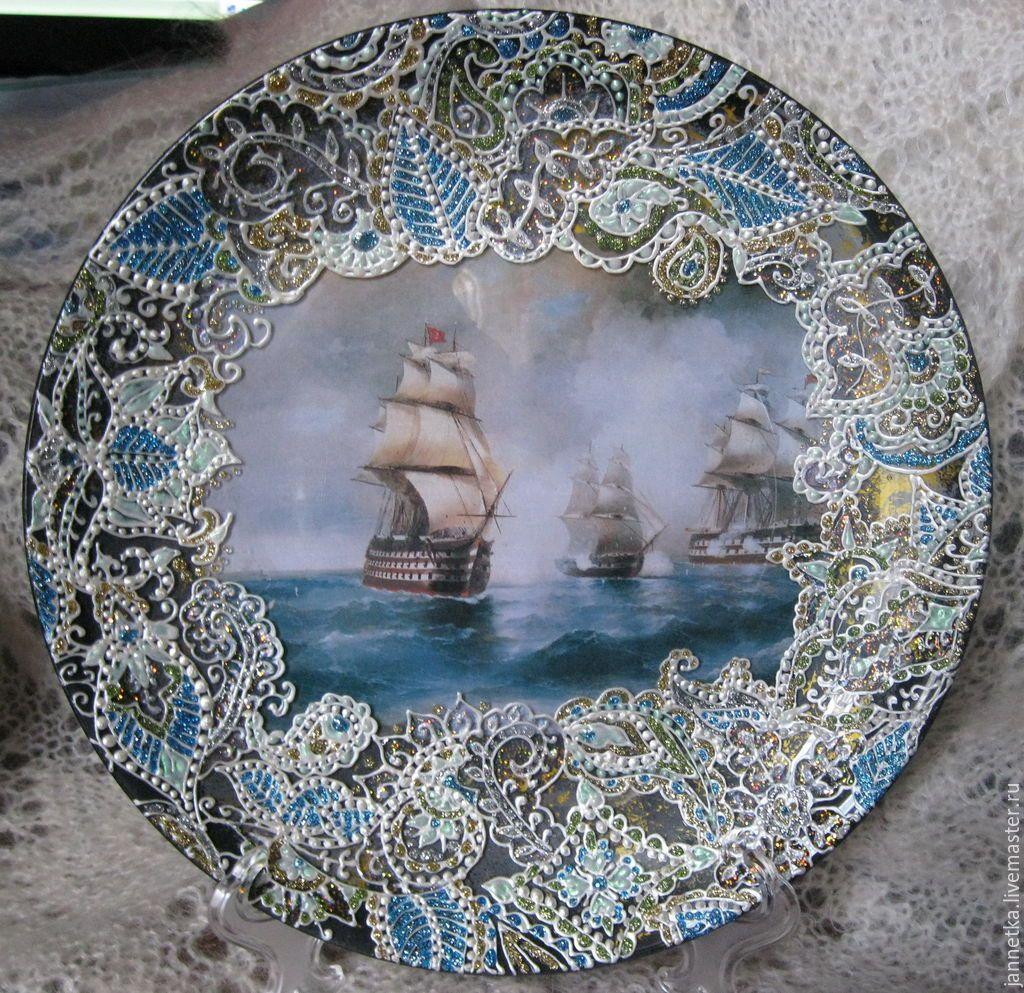 декупаж картинки для тарелок