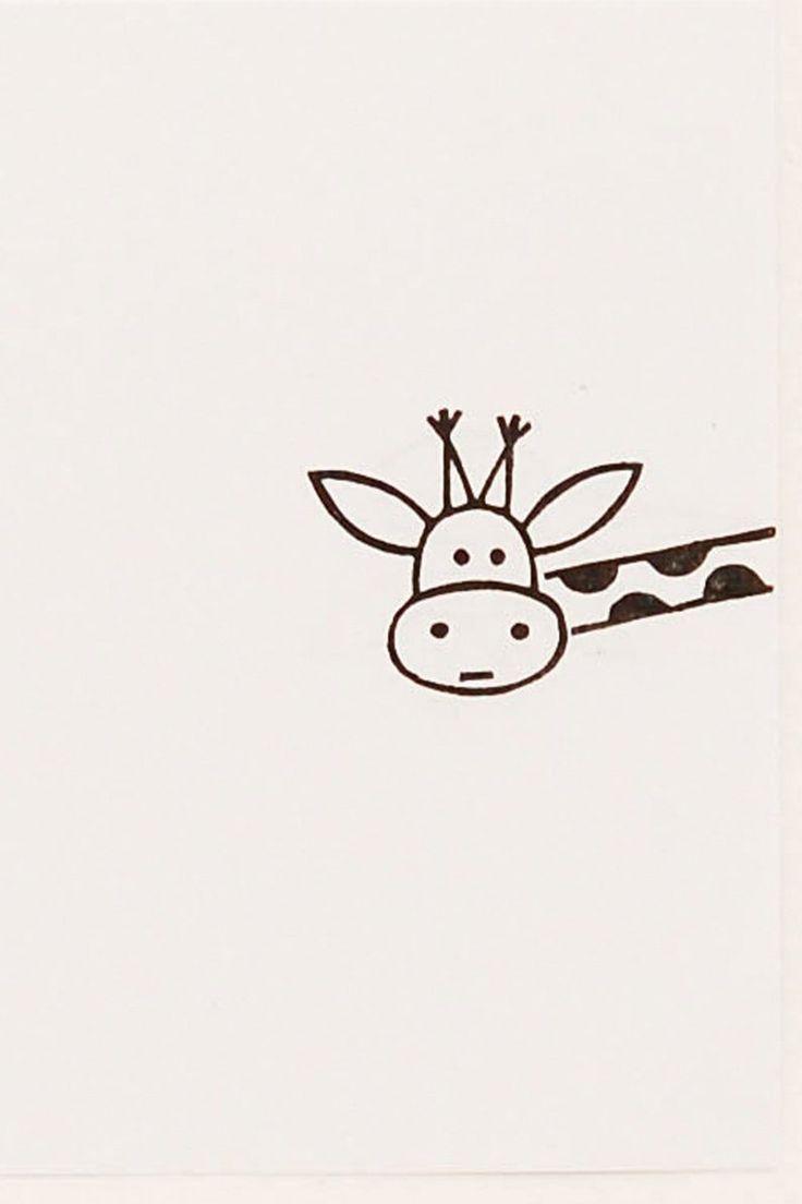 Giraffe stamp, peekaboo stamp, giraffe gift, custo