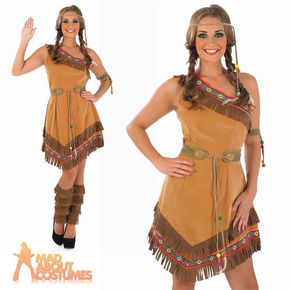 Détails sur le costume de squaw indien rouge Pocahontas-2351