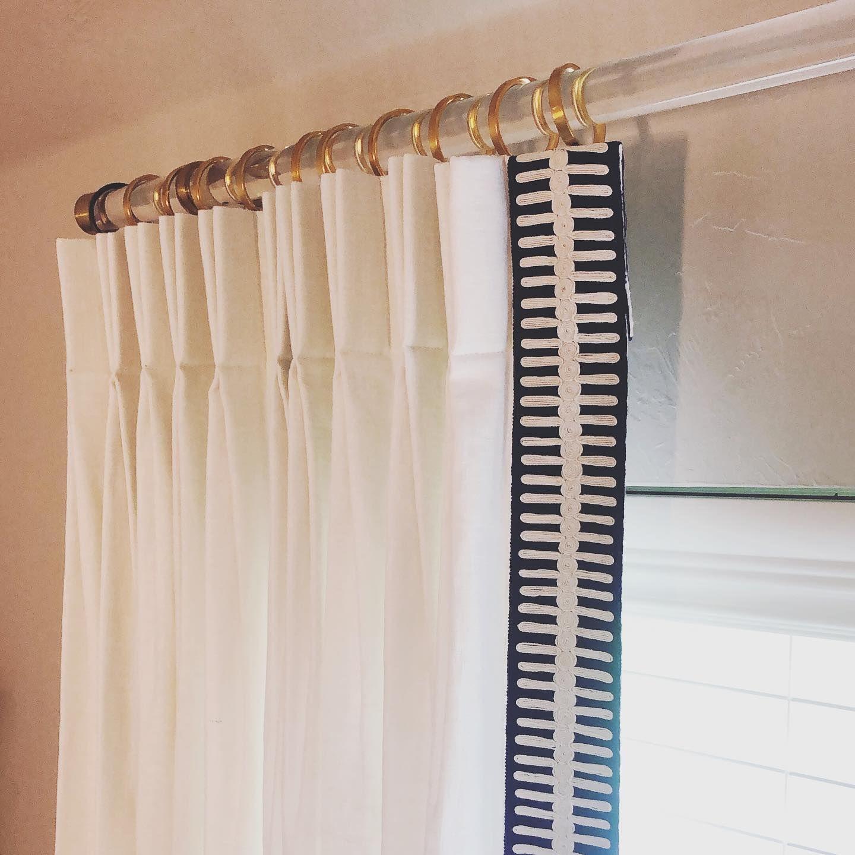 Acrylic Single Rod Hardware Set Drapery Rods Acrylic Curtain