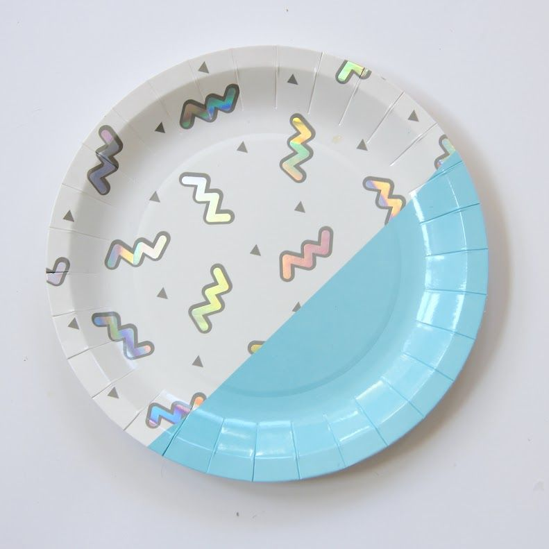 disco diamond paper party plates by Bash Party Chicago - see the full Disco Party Theme here at The Original Party Bag Company & Pin by Jolie Nouba on Tendance holographique | Pinterest