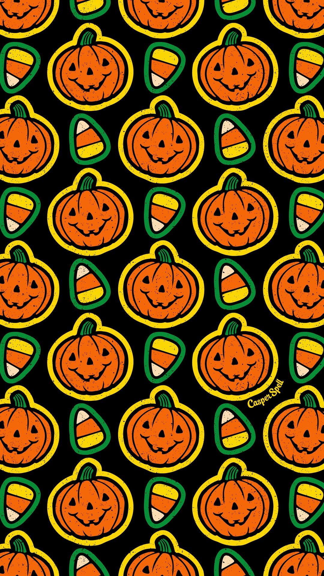 Classic Halloween Pattern By Casper Spell Halloween Wallpaper Halloween Backgrounds Halloween Wallpaper Iphone
