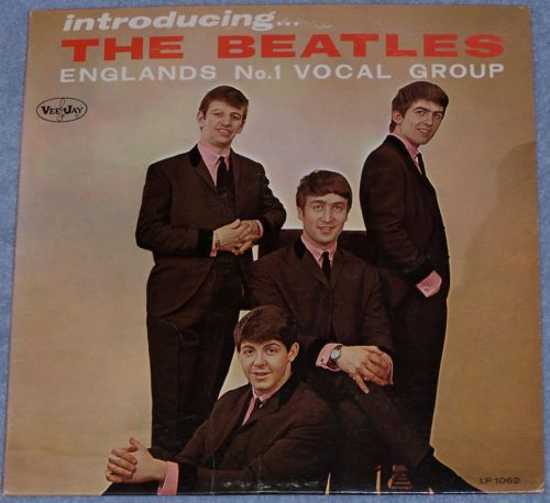 Introducing The Beatles LP Love Me Do P.S. I Love You Oval Colorband Audiomatrix