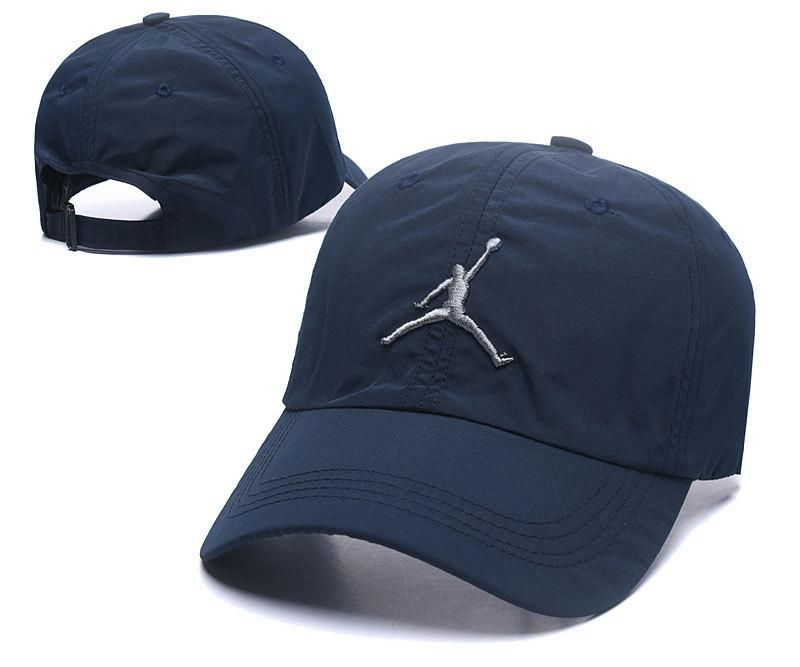 Men's / Women's Nike Air Jordan The Jumpman 3D Embroidery Logo Curved Dad Hat - Navy