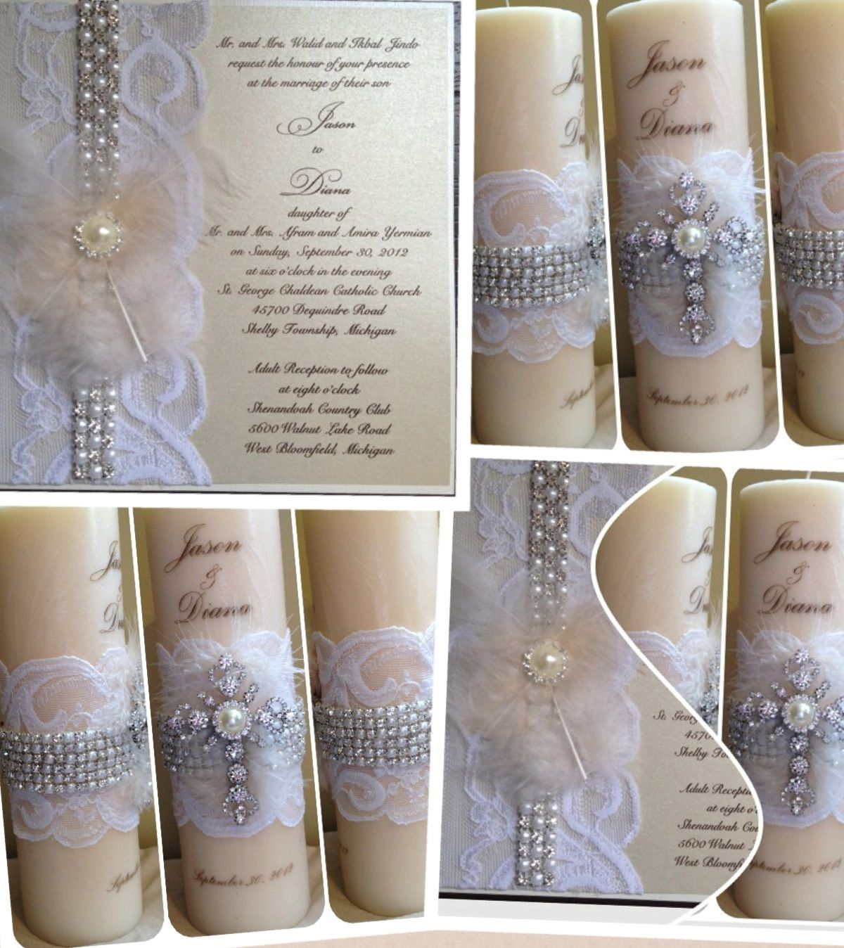 Candle Personalized Wedding Invitation Unity Keepsake Kandle ...