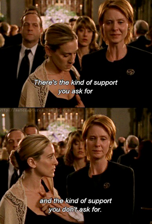Sex and city funeral quotes