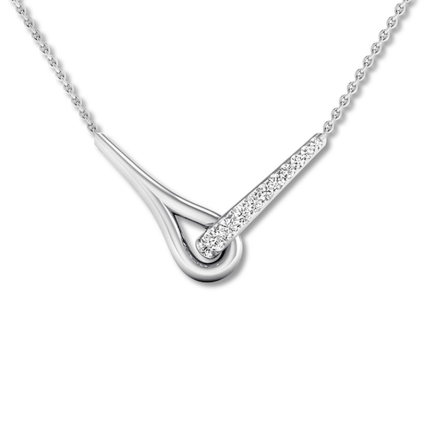 Love Be Loved Diamond Necklace 1 10 Ct Tw Sterling Silver Kay Diamond Heart Pendant Necklace Sterling Silver Choker Heart Pendant Diamond