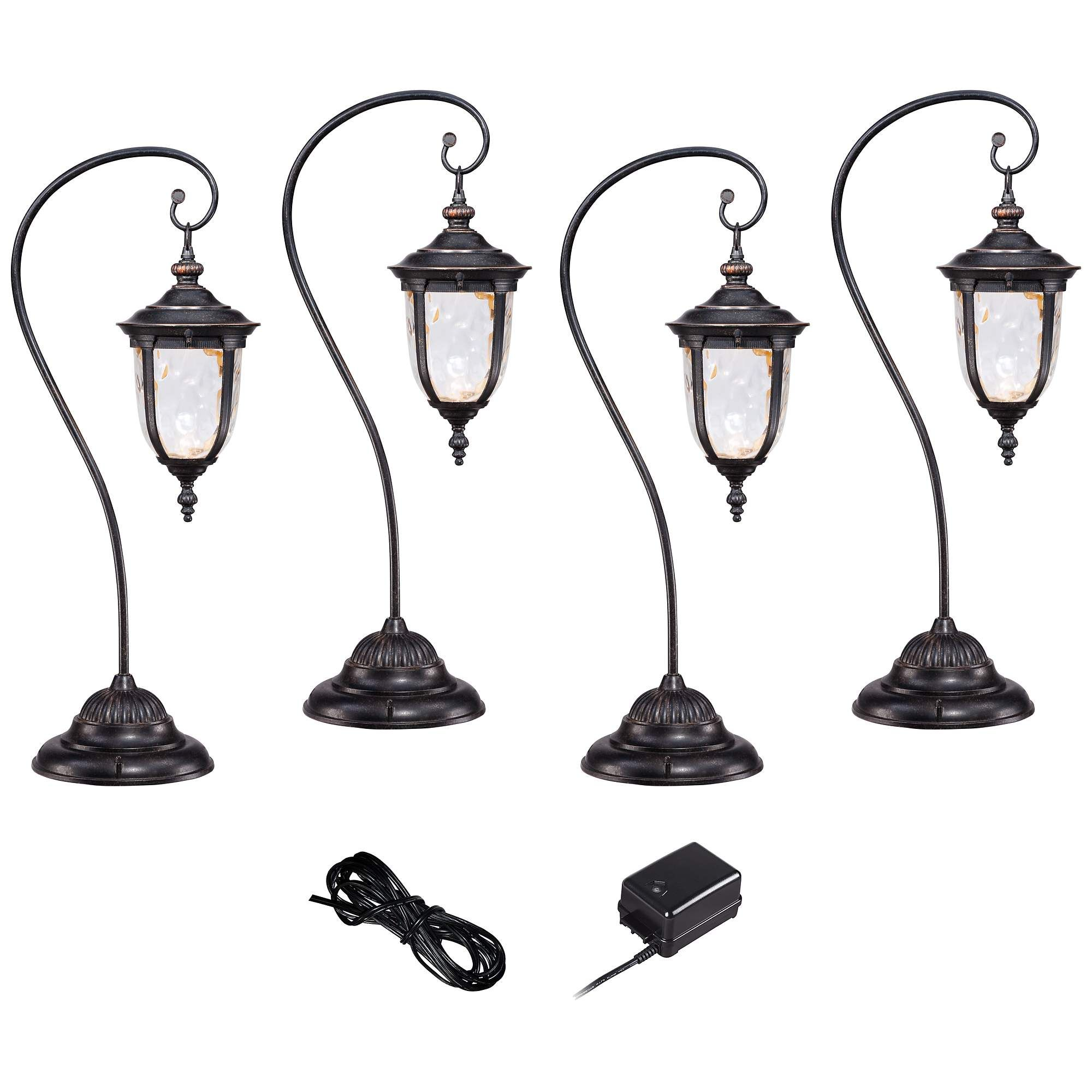 Bellagio Bronze 6 Piece Led Landscape Light Kit Set