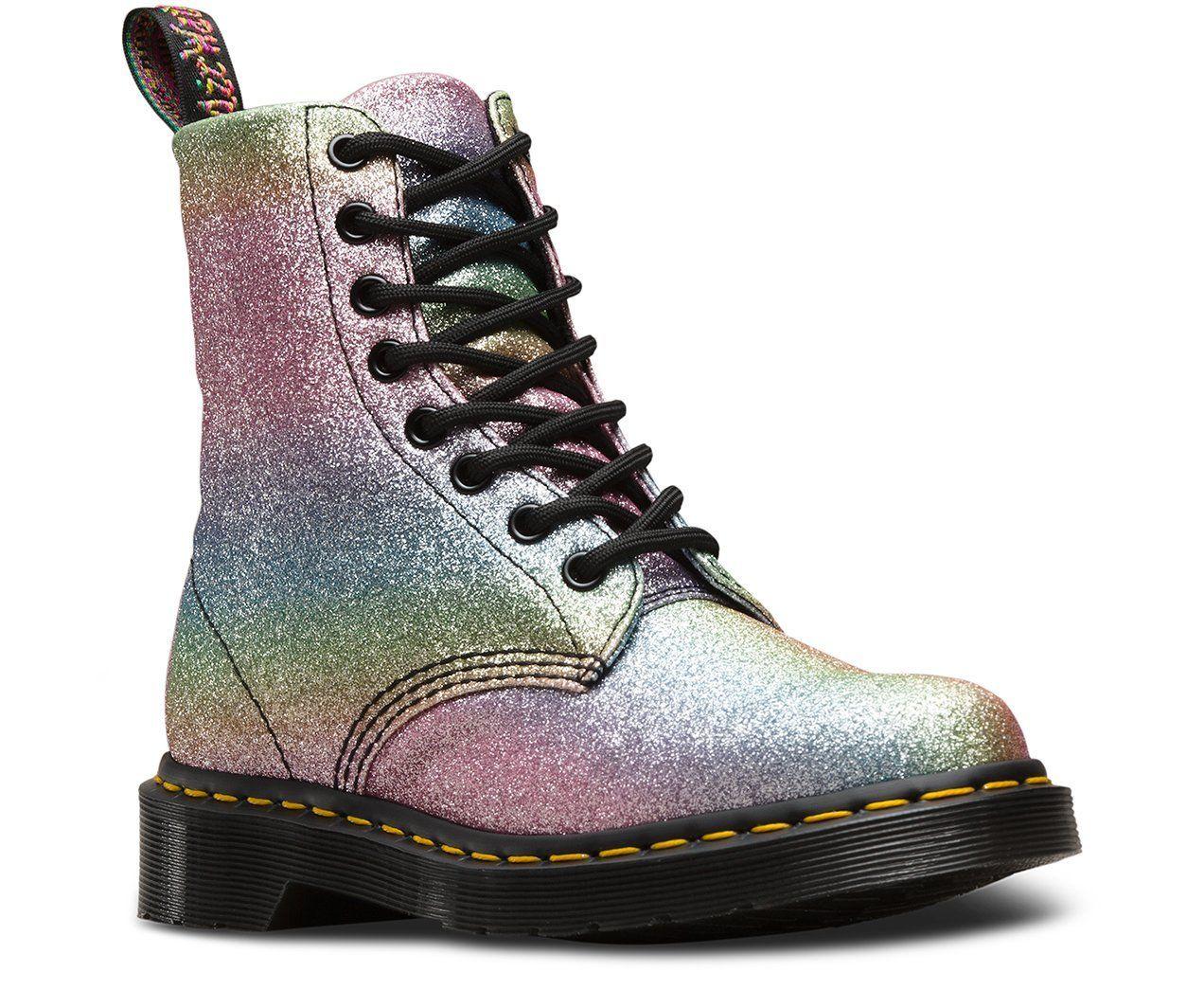 Dr. Martens Glitter Boots   POPSUGAR Fashion