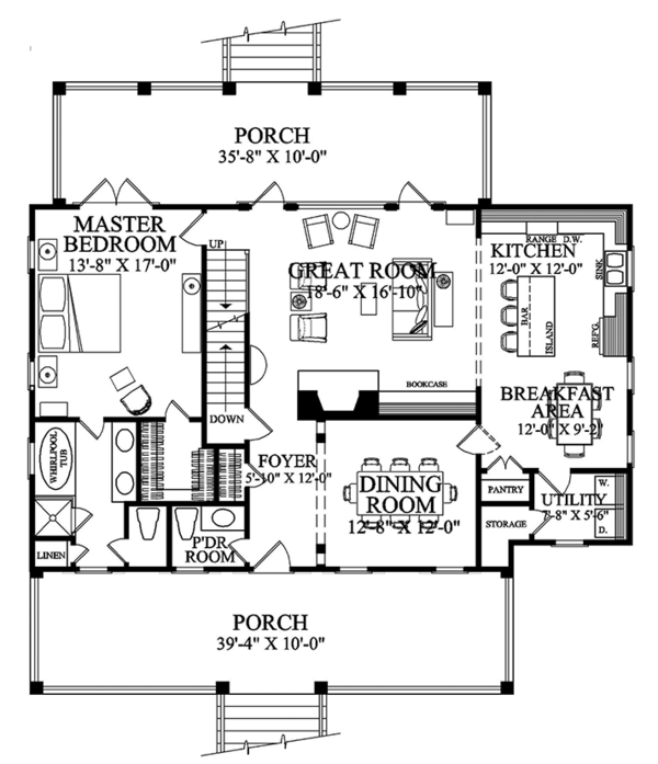 Colonial Style House Plan 3 Beds 2 5 Baths 2152 Sq Ft Plan 137 373 House Floor Plans Colonial Style Homes Modular Home Floor Plans