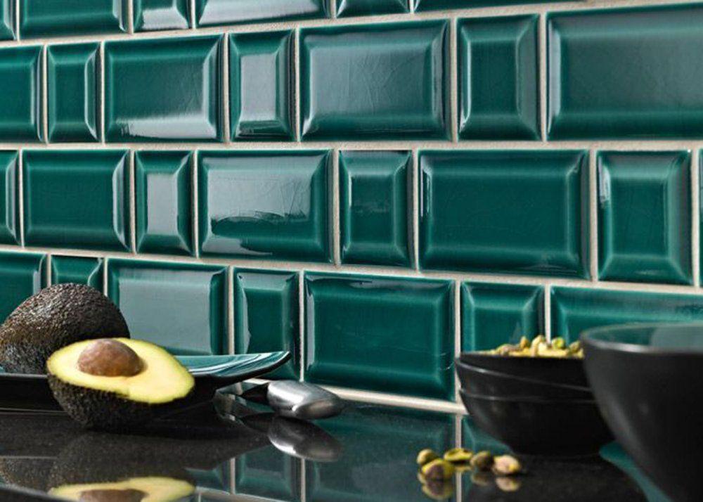 Crédence de cuisine en carrelage métro coloré Idées salle de bain - comment peindre du carrelage de cuisine