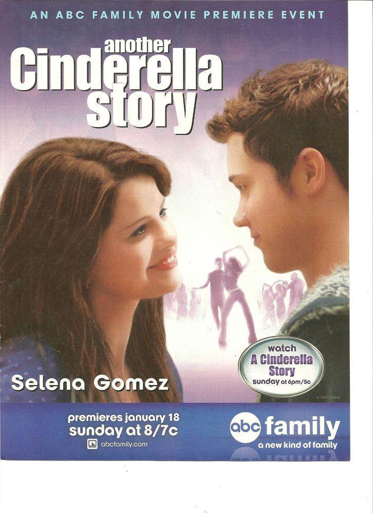 Selena Gomez Another Cinderella Story Full Page Promo Ad Another Cinderella Story Cinderella Story Selena Gomez Abc Family Movies