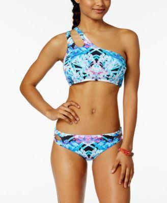 a4e08444b51e8 Bar Iii Hot Tropic Printed One-Shoulder Crop Bikini Top
