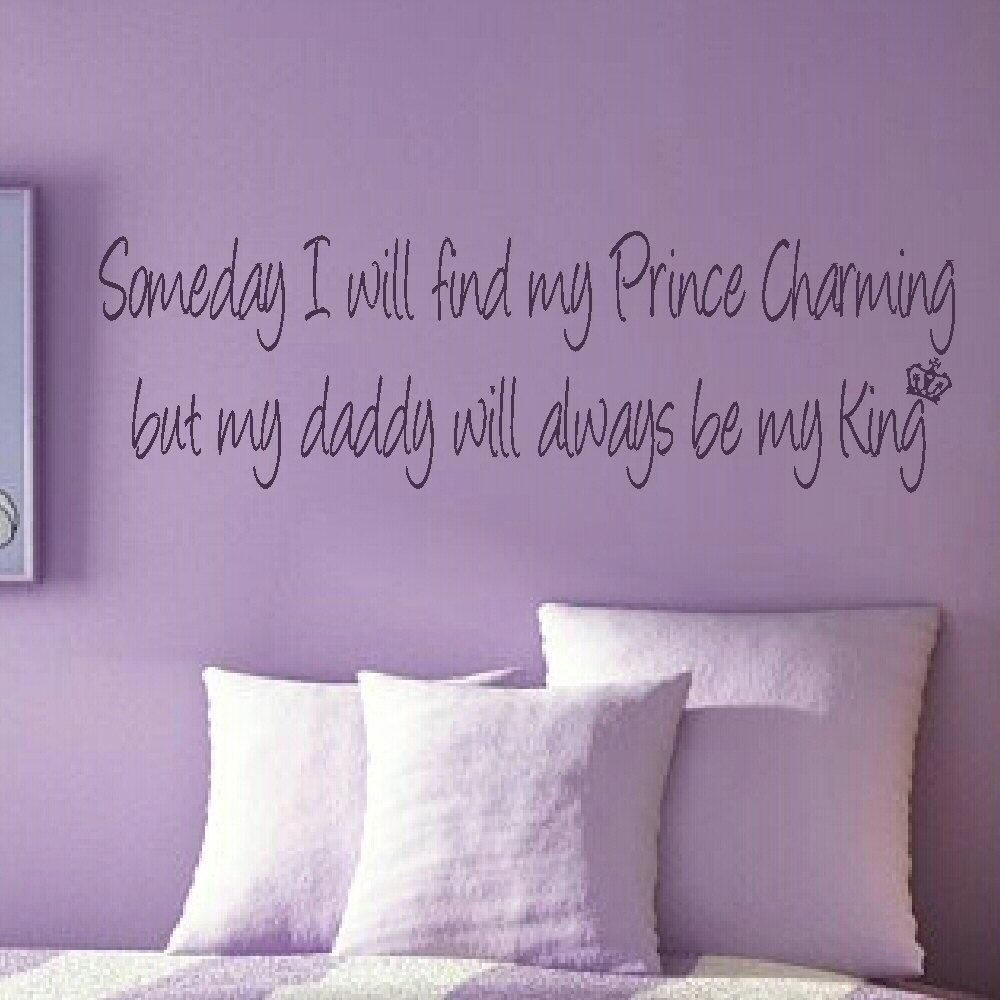 Prince charming girls bedroom quote wall stickers wall decals