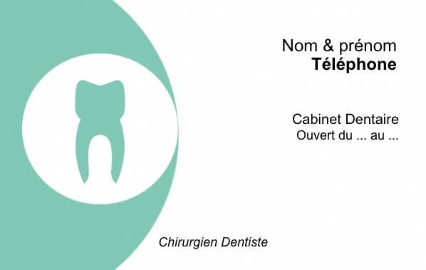 Dentiste Carte De Visite Modele A Personnaliser En Ligne Gratuit Avec Logo