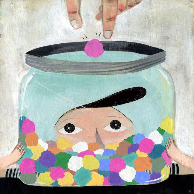 Gumballs #illustration by Mark Hoffmann #i2iart
