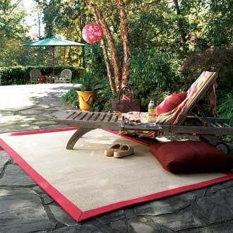 Capel South Bay Canvas Red Indoor Outdoor Rug White And Tan Rugs Area By Color
