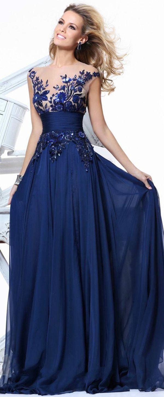 23e0996f8 Chic Tulle   Chiffon Jewel Neckline Floor-length A-line Prom Dress Vestidos  En
