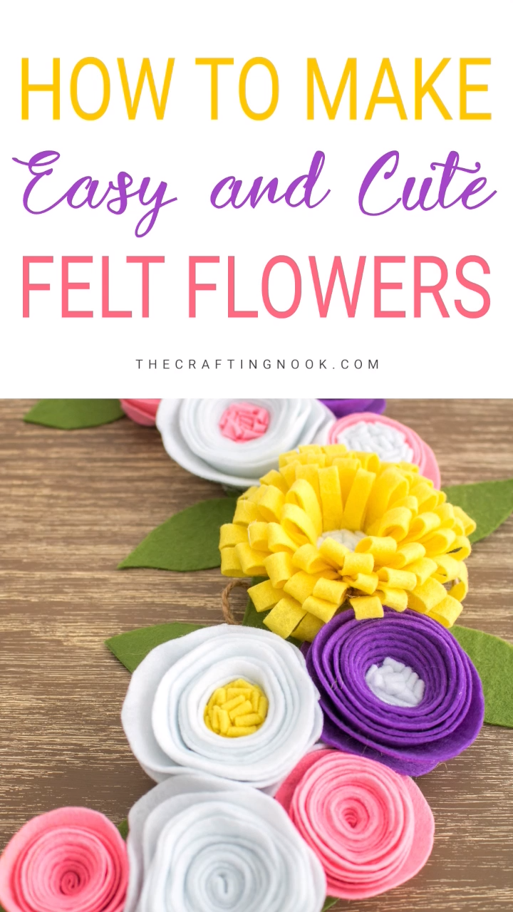How to Make Easy Felt Flowers
