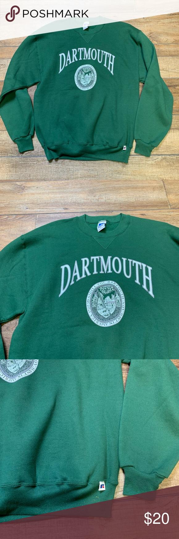 Vintage Dartmouth University College Sweatshirt Brand New No Tags Never Worn Authentic Official Russ Sweatshirts College Sweatshirt Branded Sweatshirts [ 1740 x 580 Pixel ]