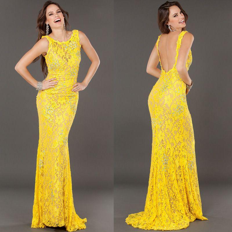 fec297ff2 vestidos de fiesta amarillos sexi - Buscar con Google