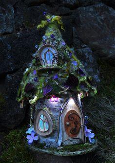 paper mache fairy houses - Google Search