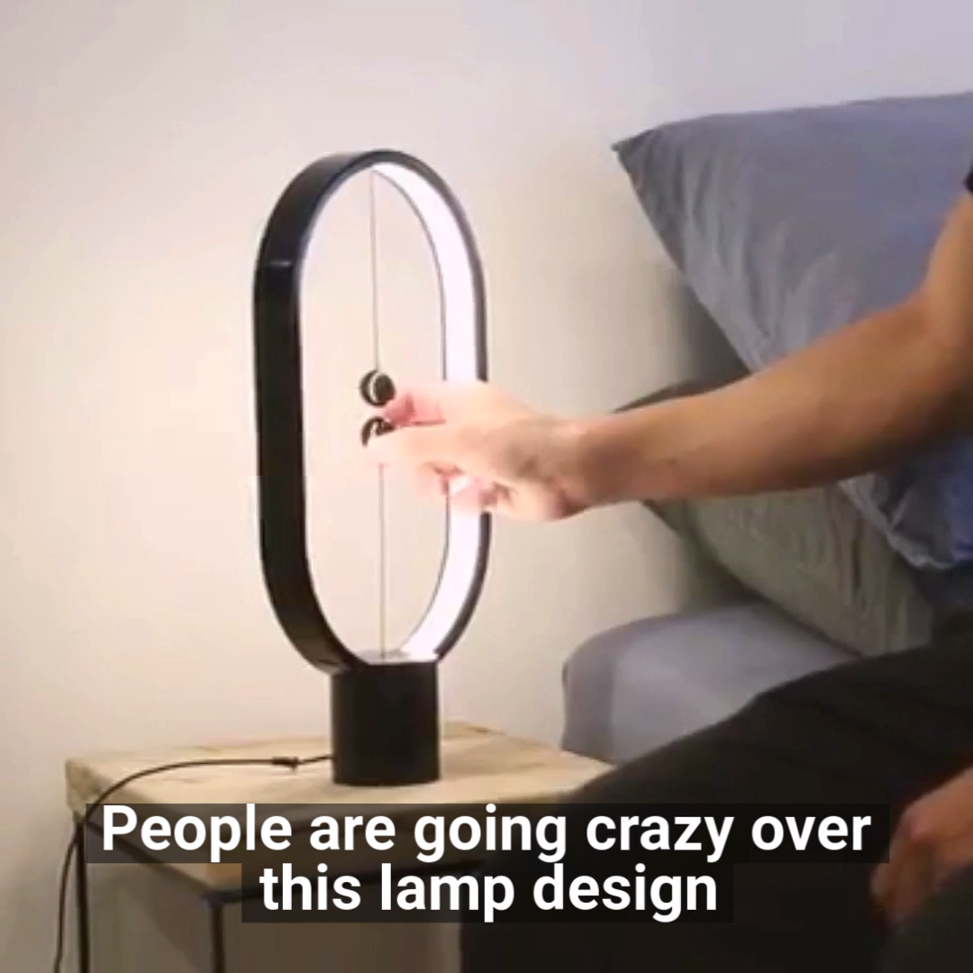 Floating Balance Designer Lamp #ledtechnology