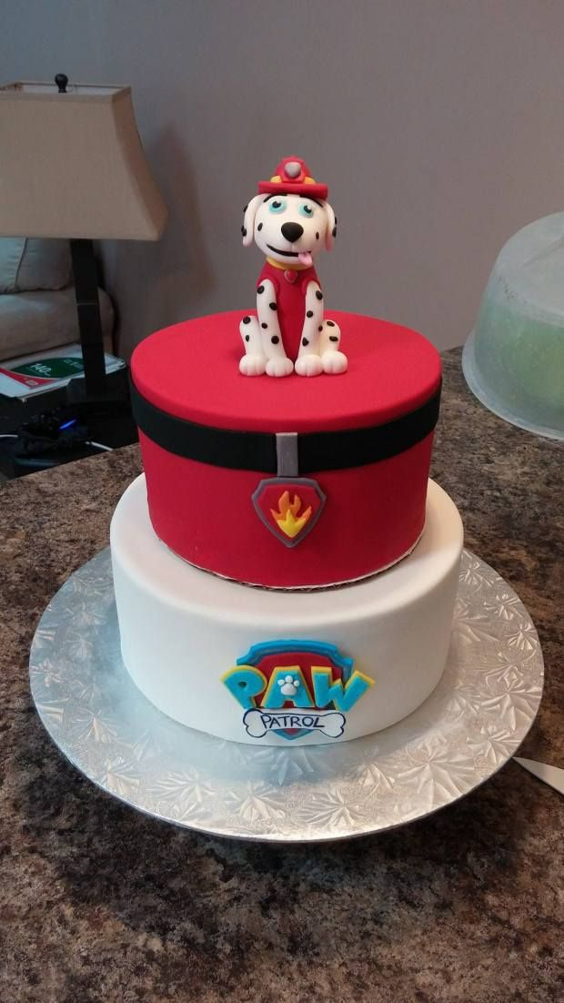 Marshall Paw Patrol Cake! - Paw patrol cake, Cake, Marshall paw patrol, Paw patrol, Waking up at 3am, Paw - Yep, another Paw Patrol cake! The night that I finished this bad boy, I woke up at 3am and had a panic attack that I made a different character than the client had requested  Sure enough, I done go…