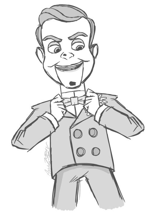Slappy The Dummy Drawing Slappy The Dummy Goosebumps Party Scary Drawings