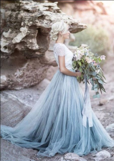 20 Gorgeous Dip Dye Wedding Dresses You\'ve EVER Seen! | hitched ...