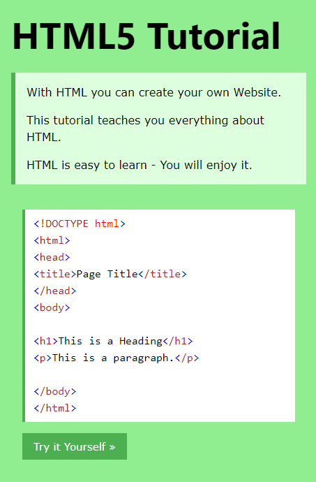 This tutorial teaches you everything about HTML | W3Schools