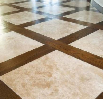 Image Result For Tile Floor With Wood Border Around Each Tile Luxury Tile Flooring Entry Tile