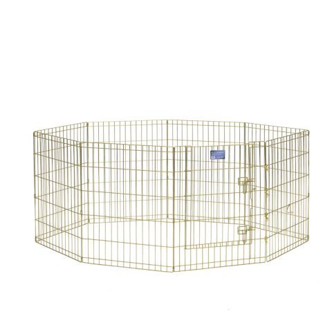 Midwest Homes For Pets Midwest Gold Exercise Pen 30 In H Tractor Supply Co 59 Great For Late Night Exercise Or A Dog Playpen Dog Pen Metal Dog Kennel