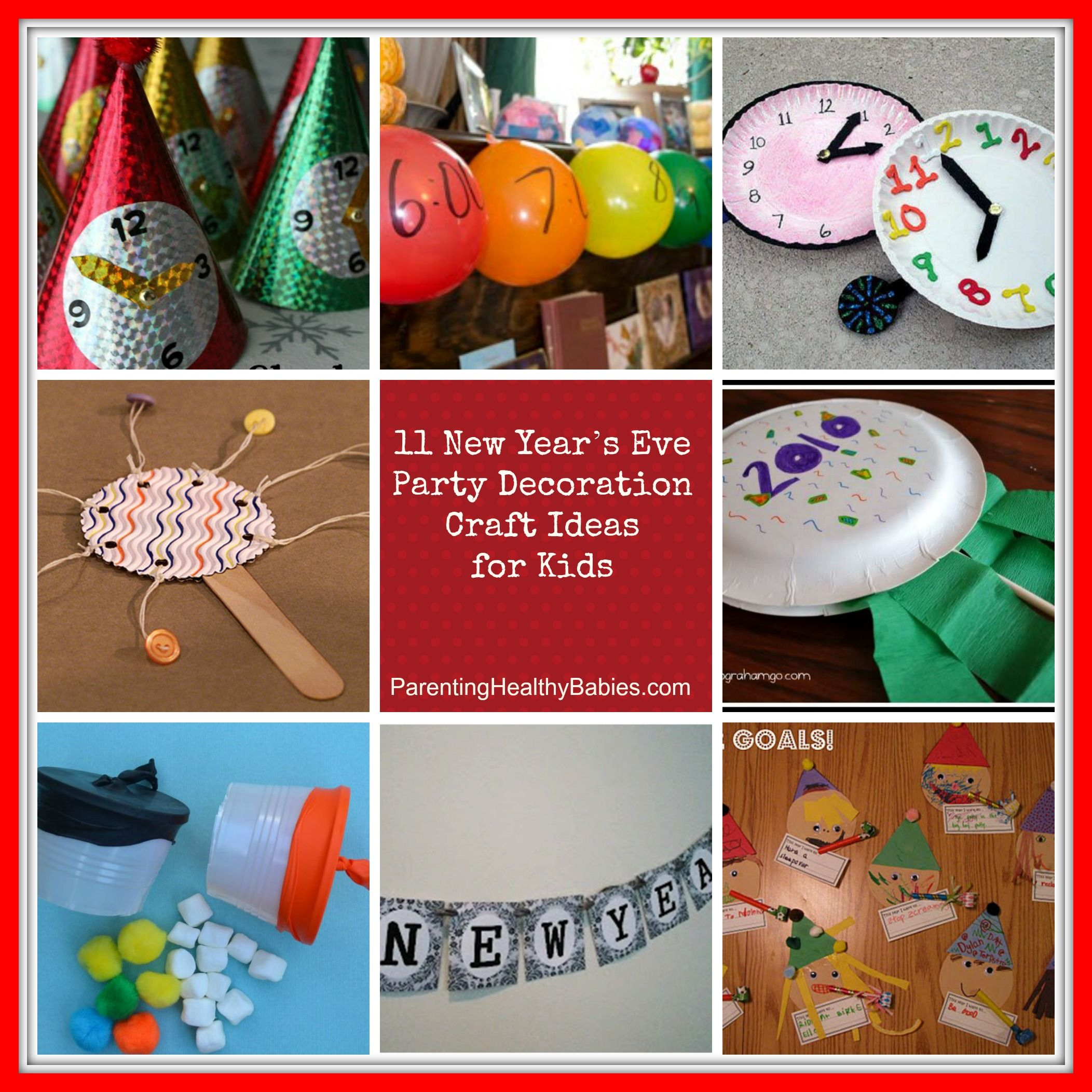 New Years Craft Ideas For Kids Part - 24: Simple Yet Pretty New Year Eve Part Decorations Craft Ideas For Kids