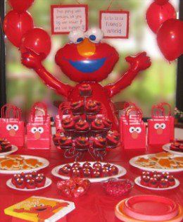 Throw an Elmo Birthday Party with Homemade Decorations and
