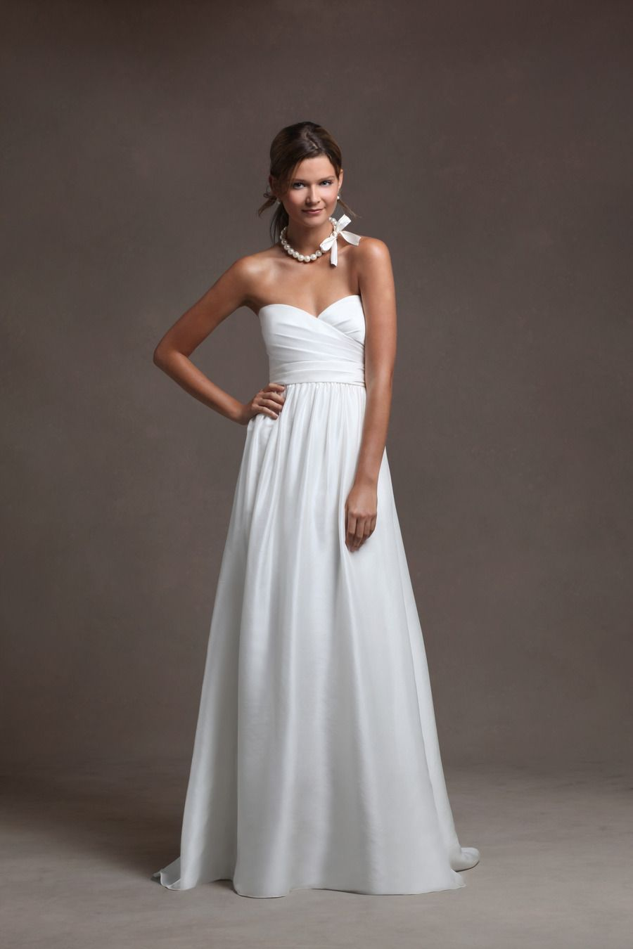 Dresses for a country wedding  Eastern Silk Shantung crisscross bodice featuring a beautiful