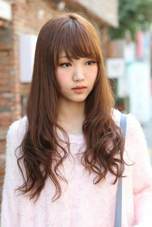Cute Korean Hairstyle For Long Hair Hairstyles Weekly Long Hair With Bangs Long Hair Styles Hair Styles