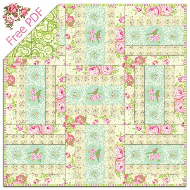 Heather Bailey S Garden District Free Quilt Pattern