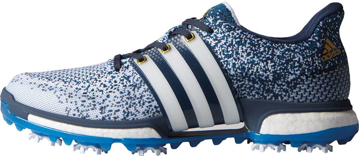 3b7b4d95300a Adidas Tour 360 Prime Boost Golf Shoes F33345 White Shock Blue Min Blue  Mens New